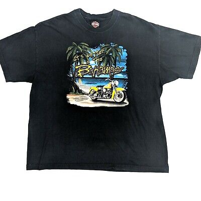 Vintage Harley Davidson Its Better in the Bahamas Tee Size XL 2002 Made in