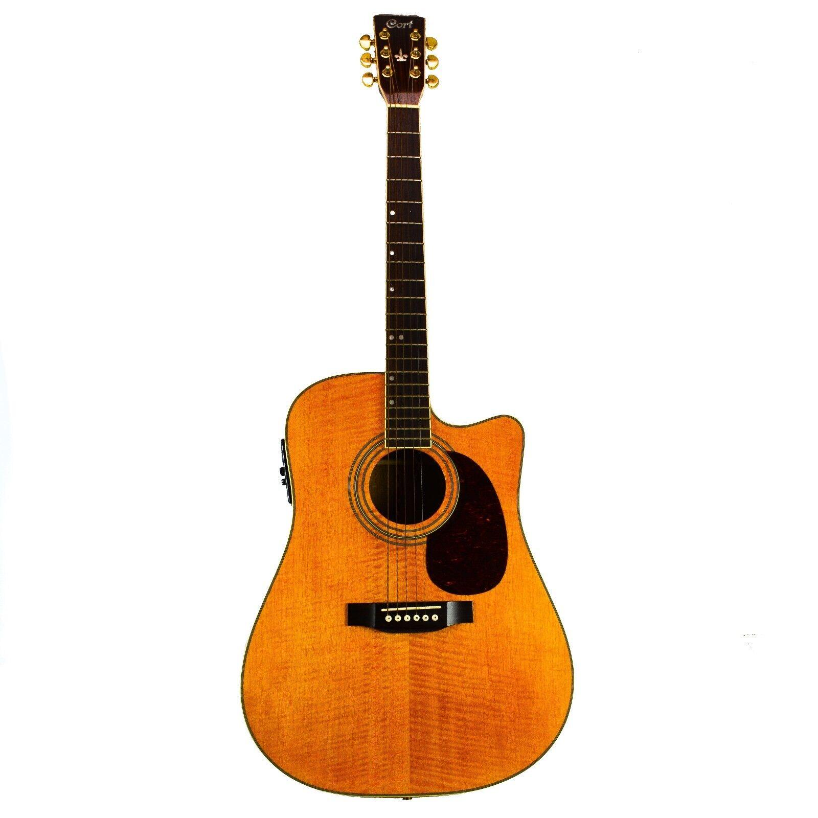 cort acoustic electric guitar korea cutaway hollow natural vintage round back. Black Bedroom Furniture Sets. Home Design Ideas