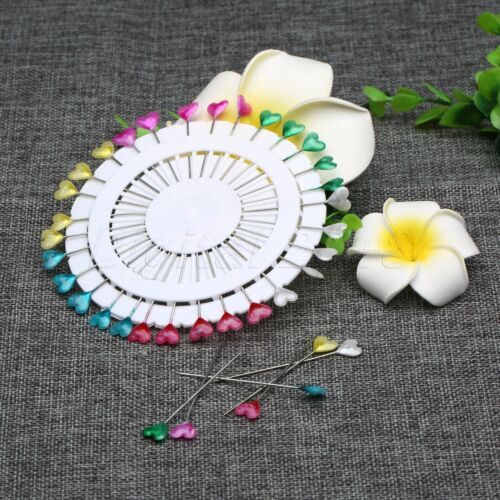 30Pcs Heart Pearl Colorful Dressmaking Pin Craft Sewing Tool for Dress Decor New