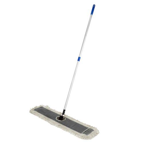 Alpine Industries 36 in. Cotton Head Metal Frame Adjustable Handle Dust Mop