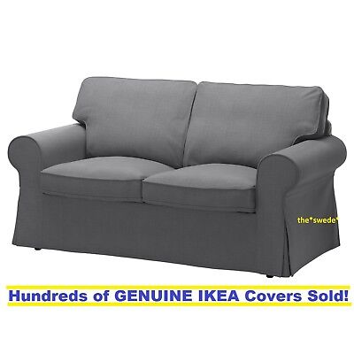 Ikea Ektorp Loveseat  2 Seat Sofa  Slipcover Cover Nordvalla Dark Gray Sealed