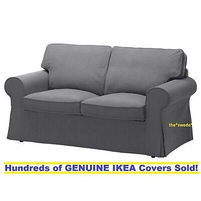 Ikea EKTORP Loveseat (2 Seat Sofa) Slipcover Cover NORDVALLA DARK GRAY New!