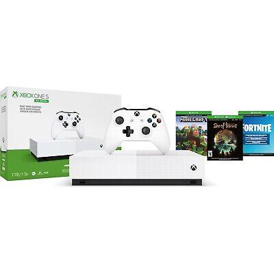 New2020 Microsoft Xbox One S 1TB 3 Game Bundle Fortnite Minecraft Sea Of Thieves