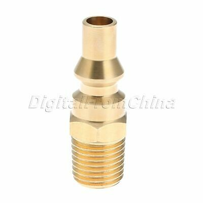 Brass Propane Gas Adapter Connector Quick Connect 1/4