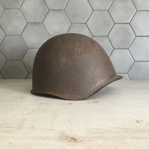 WW2 Soviet Helmet СШ39 Red Army Original Equipment SHOT THROUGH