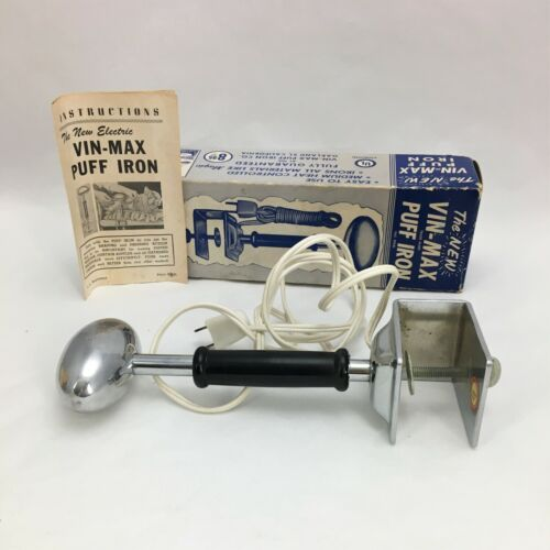 VIN-MAX PUFF IRON Model 2 1959 Boxed with Instructions WORKING Vintage