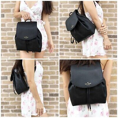 KATE SPADE NEW YORK Breezy Backpack Mulberry Black 100% Cow Leather