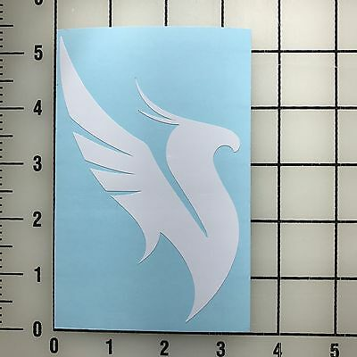 "Illenium Bird Logo 5"" Tall White Vinyl Decal Sticker - Free Shipping"