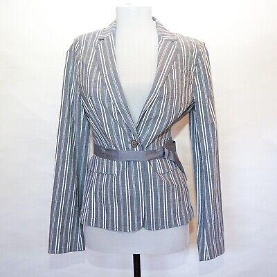 Banana Republic Blue Stripe Jacket blazer ribbon tie. NWT, Sz 6. $150