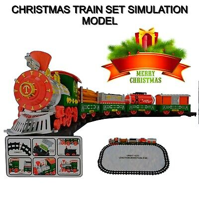 EXTRA LARGE Merry Christmas Train Set Simulation Model With Lights Sounds