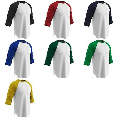 - Champro Cotton Adult Men's 3/4 Sleeve T-Shirt, Baseball Undershirt