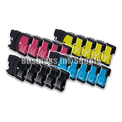 20pk Lc61 Ink Cartridge For Brother Mfc-495cw Mfc-j410w M...