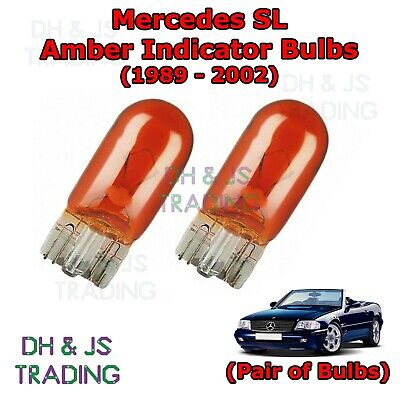 Mercedes SL Amber Side Indicator Bulbs Flash 501 Side Tail Pair (1989-2002)