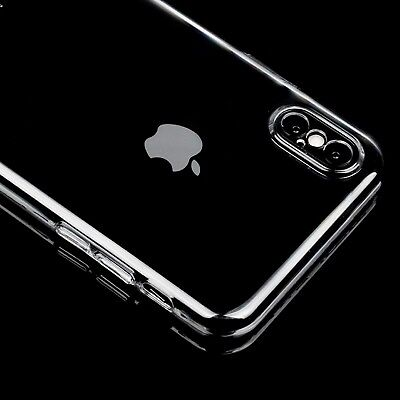 Slim Clear Crystal Transparent Plastic PC Hard Case Cover For Apple iPhone 7 8 X Clear Crystal Hard Case Cover
