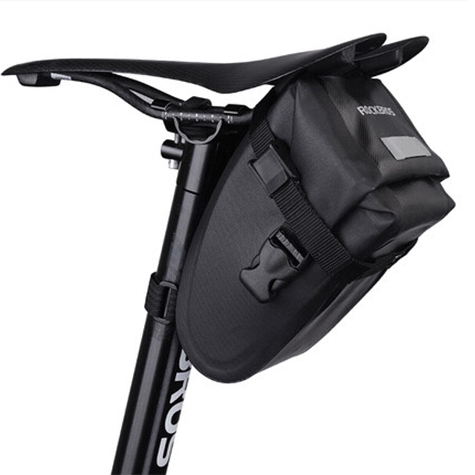 ROCKBROS  Satteltasche Fahrradtasche Sitztasche mit Regenschutz Schwarz DHL