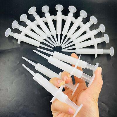 Dental Disposable Impression Syringe Injectors W Tip Plunger Bag Of 50pcs