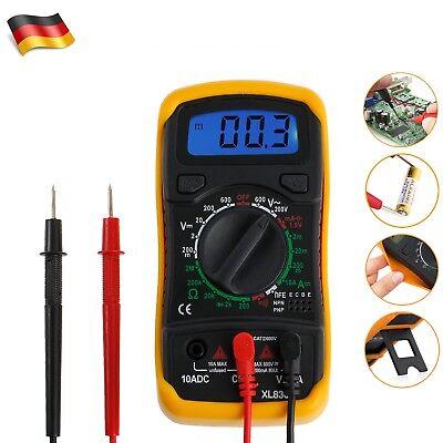 Digital LCD Multimeter Strommesser Voltmeter DC AC Amperemeter Messgerät Texter