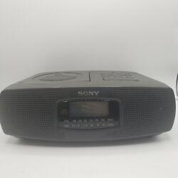 Sony ICF-CD820 Stereo Dual Alarm Clock AM/FM Radio CD Player - Tested Works