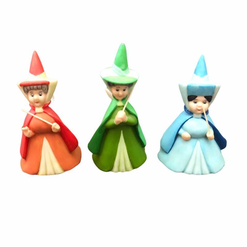 Disney Fairy Godmothers Figurines Fauna Merryweather Flora Sleeping Beauty
