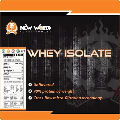 15lb Bulk Whey Protein ISOLATE (NOT concentrate) Manufacturer Direct CHOCOLATE   1