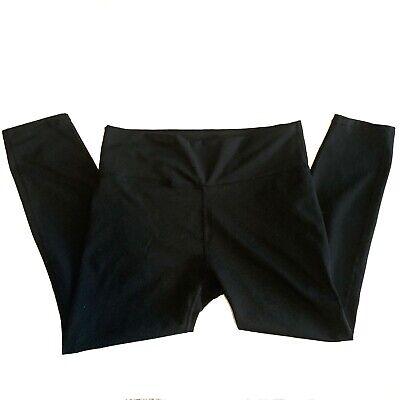 Fabletics Sz Large? L? Black High Waisted Capri Crop Pants