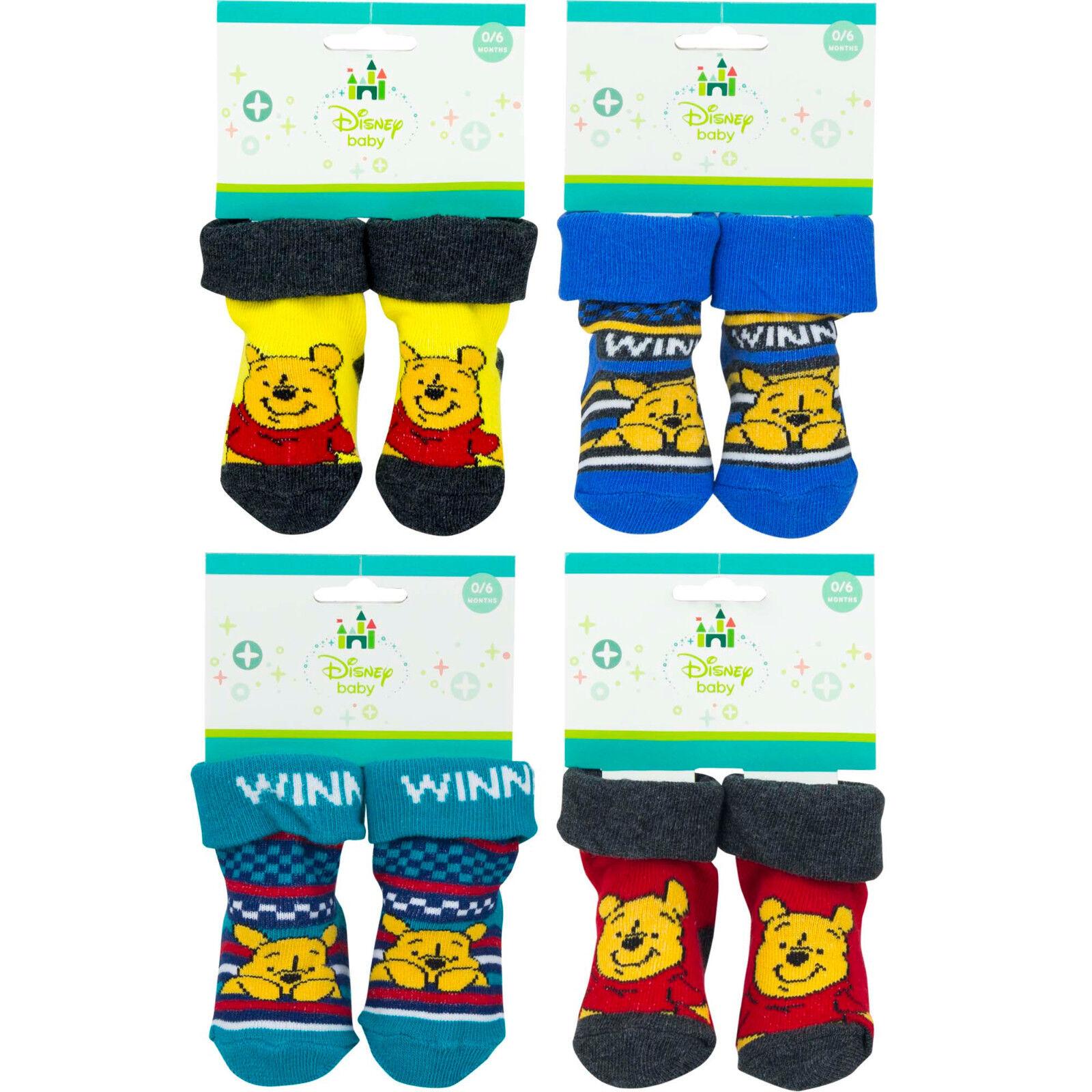 Disney Winnie Pooh Baby Socken Strümpfe Gr. 0-6 Monate 6-12 Monate Junge