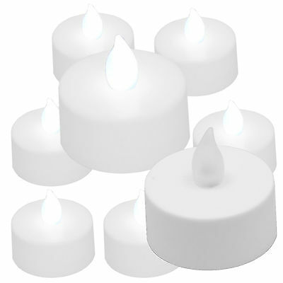 10 pcs White Led Tea Light Flameless Battery Candles Wedding Party Romantic