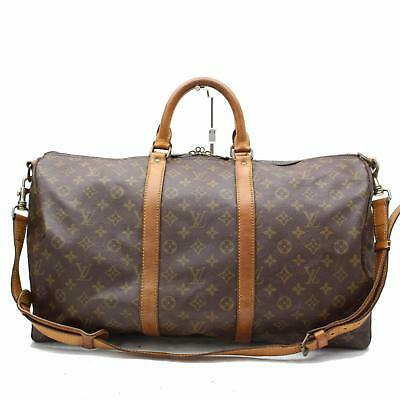Authentic Louis Vuitton Boston Bag Keepall Bandoliere 50 M41416 244378
