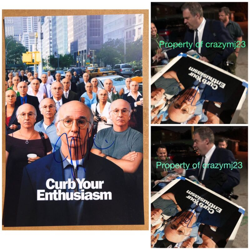 Jeff Garlin Signed Curb Your Enthusiasm Poster Show Autograph Auto Exact Proof