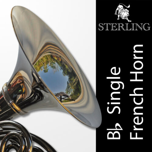 DARK NICKEL • Bb STERLING SWFH-700 Single FRENCH HORN • Brand New • Case •