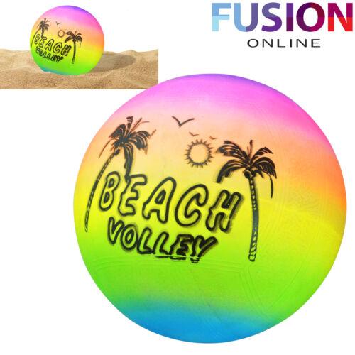 RAINBOW BEACH VOLLEY BALL INDOOR/OUTDOOR INFLATABLE KIDS BEACH BALL POOL BALL