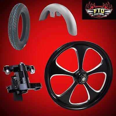 "Harley 30 inch Front End Big Wheel kit, Wheel, Tire, Neck, Fender,  ""5 Blade"""