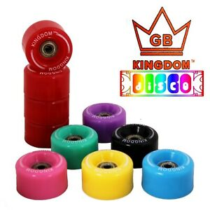 Kingdom GB™ Disco Quad Roller Skate Wheels Kit with ABEC7 Bearings 8 Colours