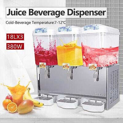 Kenwell 680w Commercial 3 Tank Juice Beverage Dispenser Cold Drink Jet Spray