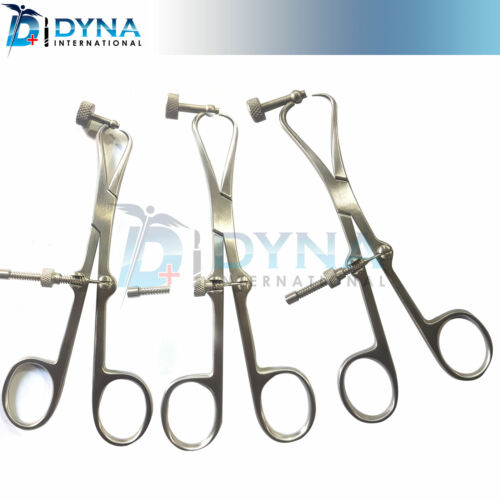 Set of 3 Plate Holding & Drill Guide Forceps Veterinary Orthopedic Instruments