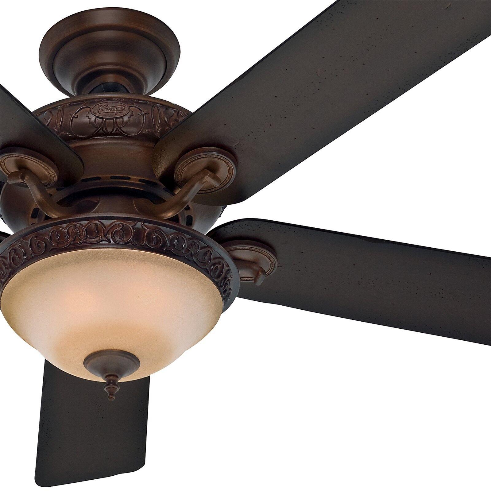 Barn Wood Ceiling Fan : Hunter quot brushed cocoa ceiling fan aged barn wood