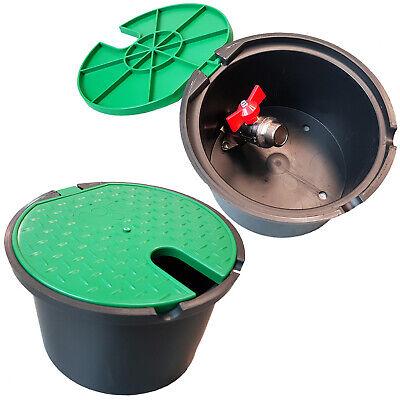 Runder Ventilbox Kugelhahn 3/4 Ventilkasten Ventilschacht Italien Hahn