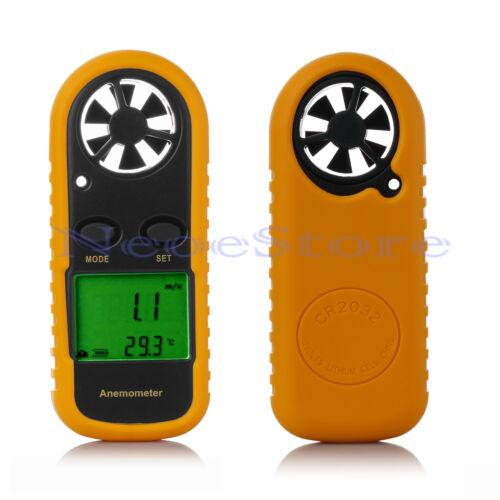 LCD Handheld Digital Sailing Anemometer Wind Speed Velocity Thermometer Meter