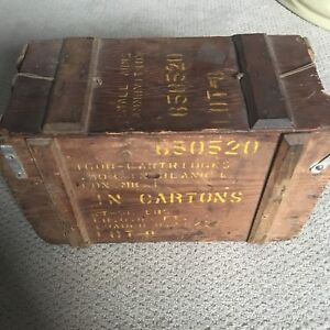 Old Wooden Ammo box