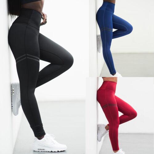 Damen Push Up Leggings Sporthose Yoga Gym Fitness Tanzen Traininghosen Leggins