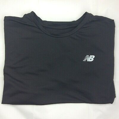 New Balance Extra-Large (XL) Black Short Sleeved T-shirt Sport Genuine Mens