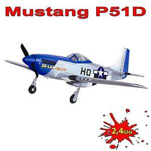 4 Kanal RC ferngesteuertes Flugzeug Mustang P-51D, Modellbau, Jagdflugzeug, Neu