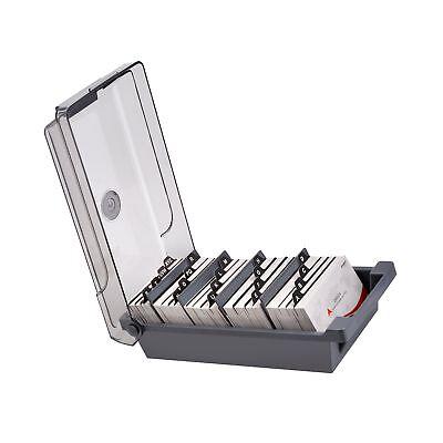 Maxgear Business Card Holder Box Business Card File Card Storage Box Organize...