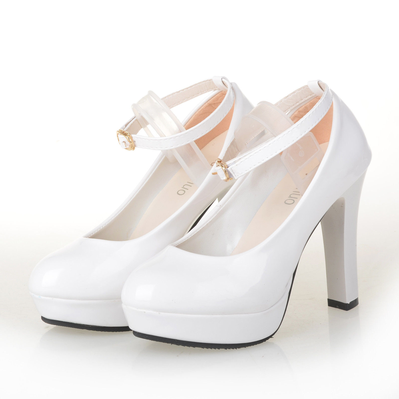 White Kitten Heel Bridal Shoes