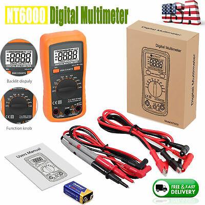 6000 Counts Digital Multimeter Trms Auto Range Ncv Dc Ac Voltage Current Tester