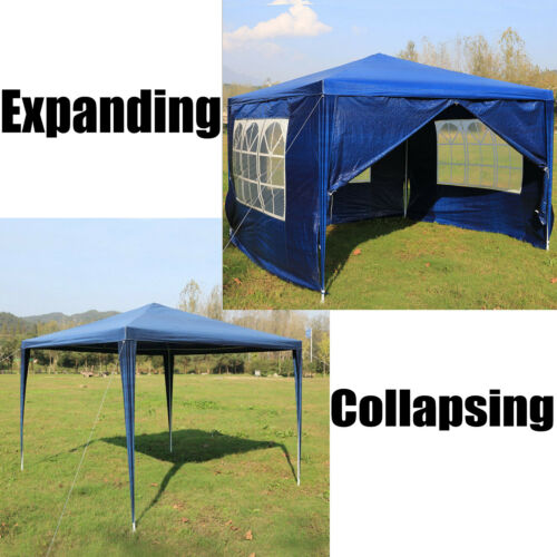 Gazebo Waterproof Tent Marquee Awning Outdoor Canopy Side