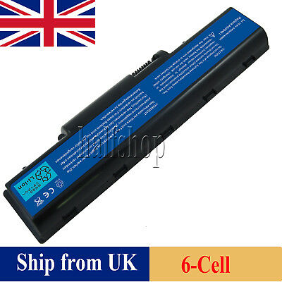 6 Cell Replacement For Aso9a41,as09a71 Battery Gateway Nv51 Nv52 Nv53 Laptop Uk 0