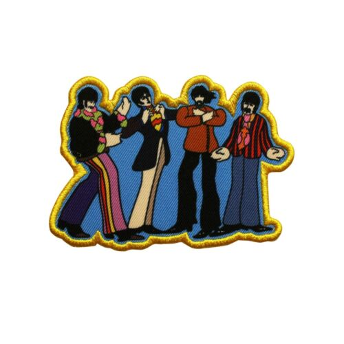 The Beatles Yellow Submarine Sub Band Members Printed Sew On Patch -  074-U