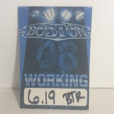 Boston backstage pass local working crew concert tour memoribilia New 2008
