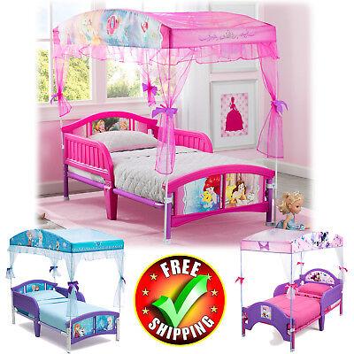 Kid Bed Canopy Plastic Toddler Bed Girl Disney Child Furniture Safety Rails